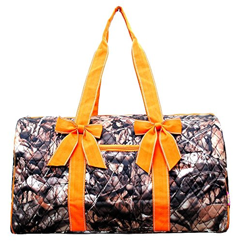 Quilted Camo Duffle Bag (Orange) by ngil