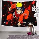 3354 Tapiz para colgar en la pared, diseño de anime Boys Na-ru-to Tapices suaves y divertidos para dormitorio de 123 x 21 cm