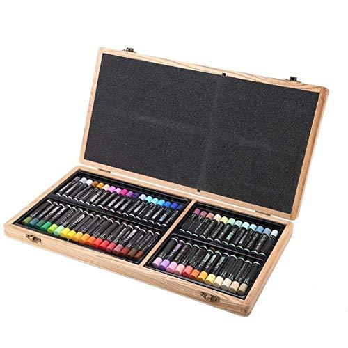 Yiyu Ölpastelle, 60 Farben Schwerölgemälde Stick Fine Art Painting Kreide Set Ölpastelle Set Ölfarbe Zeichnung Sticks Art Set x (Color : Black)