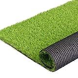 H-Bedding リアル人工芝 ロール 芝丈35mm (幅1M*長さ3M) 耐久性強い 芝4色混合 (長さ2m/3m4m/5m/7m/10mサイズ選択可) 春色 マット カーペット 庭 ガーデン ベランダ バルコニー 屋上 テラス 玄関適用