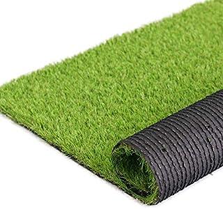 H-Bedding リアル人工芝 ロール 芝丈35mm (幅1M*長さ5M) 耐久性強い 芝4色混合 (長さ3m/5m/7m/10mサイズ選択可) 春色 マット カーペット 庭 ガーデン ベランダ バルコニー 屋上 テラス 玄関適用
