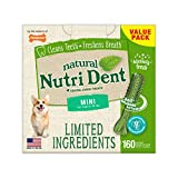 Nylabone Nutri Dent Natural Dental Fresh Breath Flavored Chew Treats Mini (160 Count)