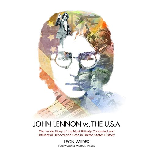 John Lennon vs. the USA audiobook cover art