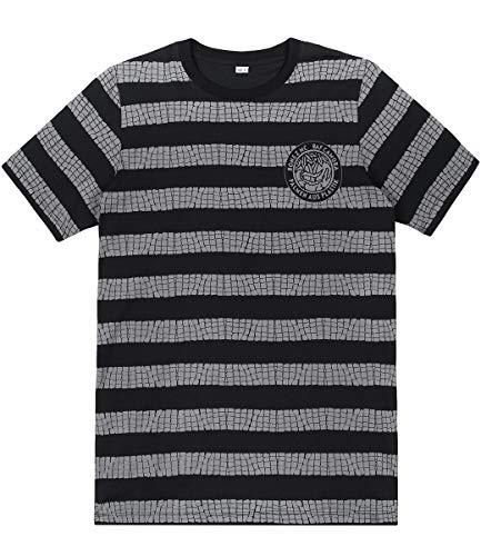 Palmen aus Plastik T-Shirt Kroko, Farbe:schwarz, Größe:L