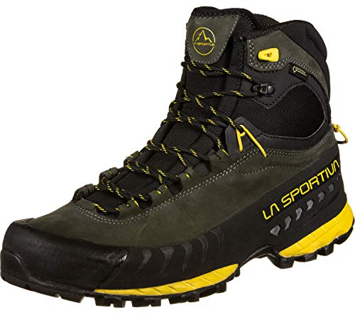 LA SPORTIVA Herren TX5 GTX Trekking- & Wanderhalbschuhe, Grau Gelb (Carbon/Yellow 000), 43 EU