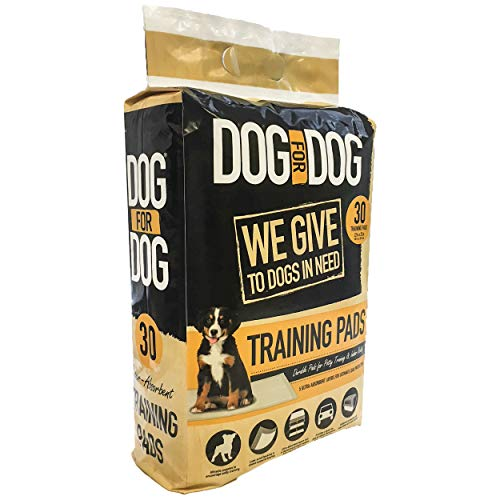 DOG for DOG Puppy Pads - Instant Gel, Super Absorbent, Tear-Resistant Pee Dog Training Pads for Dogs - Pet Weewee Pads -Odor Neutralizing with Leak Protection for Puppies - 22x22 in (30 Pack)