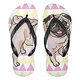 Linomo Sandalias de playa de verano para hombre con diseño de perro perrito delgado para mujer, color, talla 34.5/37 EU