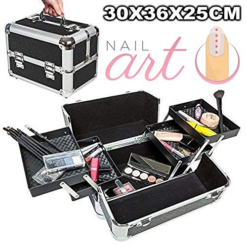 Trade Shop Traesio-koffer harde schaal koffer beauty case voor cosmetica make-up Nail Art