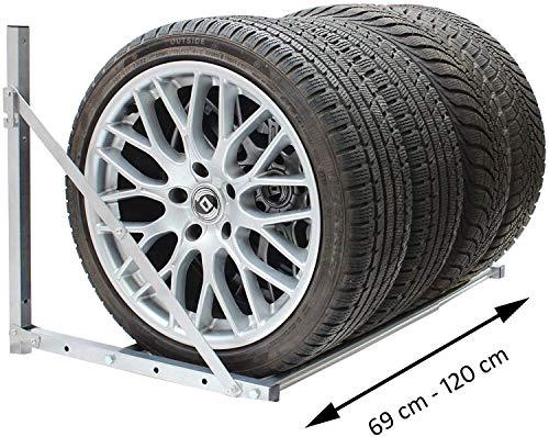 GTON Reifenregal Reifenhalter Reifenständer Wandhalter Radständer Felgenregal Belastbarkeit 300 lbs Felgenbaum Radhalter Kompletträderhalter