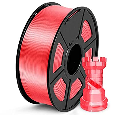 SUNLU PLA Filament 1.75mm, Silk Gold 3D Printer Filament, 1KG 2.2 LBS Spool, Shiny Metallic PLA Silk Filament
