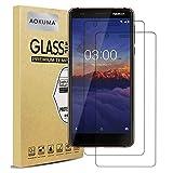 Nokia 3.1 Panzerglas, AOKUMA【2 Stücke】Glas kompatibel mit Nokia 3.1 Schutzfolie, Premium Glasfolie mit 9H Festigkeit, Anti Kratzer, Splitterfest,Anti-Öl,Anti-Bläschen