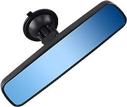 Anti-glare Rear View Mirror, Universal Car Truck Interior RearView Mirror ANTI GLARE Suction Cup Blue Mirror