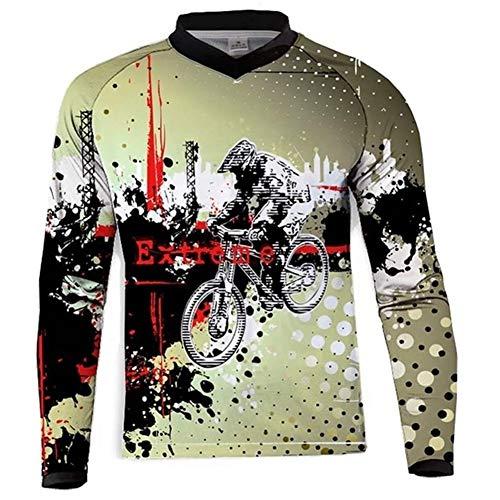 Jersey VTT Jersey à Manches Longues Femmes T-Shirt Mountain Bike Riding Equipment Jersey Ropa VTT (Color : N, Taille : 5XL)