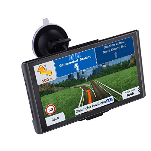 GPS Navigation for car 2020, 7-inch HD car Navigation System, Real Voice Real-time Navigation, Free map Updates (North America, Europe, South America and Others)