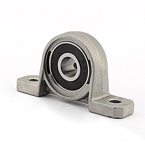 Cojinete de Bloque Almohada de Aleación de Zinc de 8 mm Diámetro de Orificio Carcasa de Fundición Sólida Base Montada con Eje Interior Capa de Protección Contra El Polvo de Rodillo Esférico
