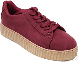 Women's Wedge Platform Comfort Suede Causal Fashion Sneaker Shoes Hanna