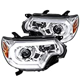 Spec-D Tuning Chrome LED DRL Projector Headlights Lamps for 2012-2015 Toyota Tacoma Head Light Assemply Left + Right Pair