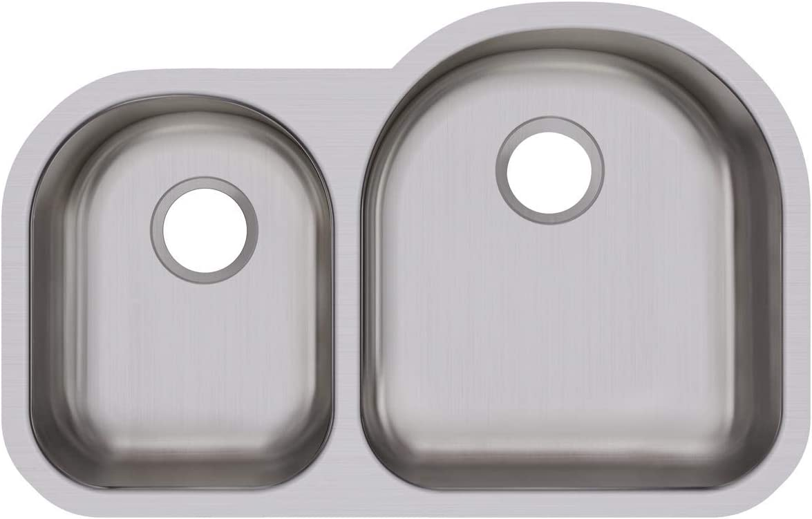 Dayton DCFU3119L Offset In a popularity 40 60 Double S Undermount famous Stainless Bowl