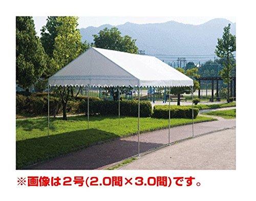 学校/イベント用テント 岸工業 テント ブルドックスロープ 0号(1.79×2.67m[1.0間×1.5間]) ブルー/白