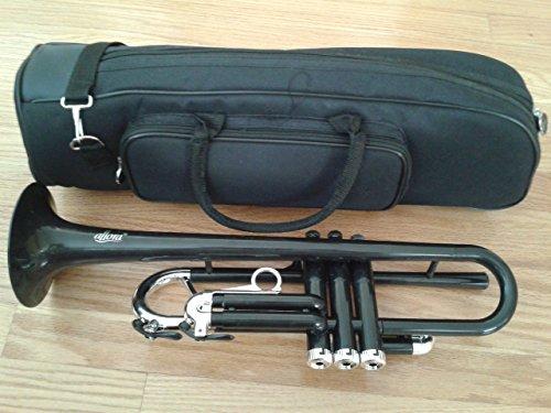Allora ATR-1301M Aere Metallic Series Plastic Bb Trumpet Metallic Black - Silver Trim