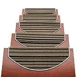 Tappeti per scale Addensare Tappeto Per Scale Striscia Autoadesivo Pedate Per Scale Alta Densità  Set Di 15 Stuoie/Tappeti Per Scale Skid-Resistant Non Scivolare Floor Protector Lavabile 65x24cm