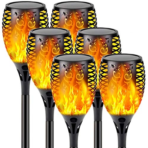 【Upgraded 6-Pack Super Larger Size Solar Flame Torch】Ultra-Bright...