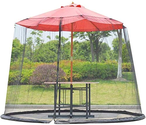 REWD Patio Umbrella Mosquito Netting Outdoor Umbrella Table Screen Parasol Mosquito Net with Insect-Proof Design - Excluding Umbrella and Foundation
