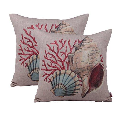 Queenie®–2Carcasa de ses PC almohada cojín manta decorativa Funda de almohada Funda de almohada 18x 18(45x 45cm), diseño de flores, juego de 2