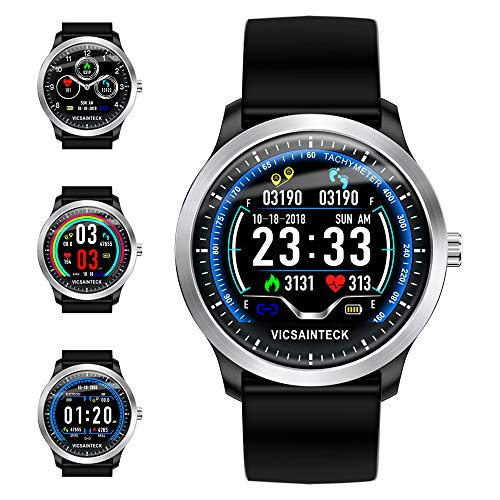 Vicsainteck Fitness Tracker, Smartwatch Android iOS Smart Watch Fitness...