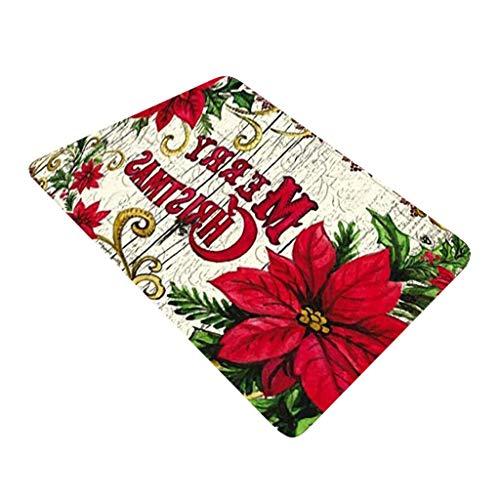 milkcha Christmas Carpet Kitchen Doorway Bathroom Floor Carpet Floor Mat Print Cell Phone Accessories Case
