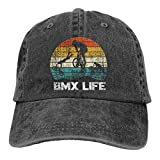 BMX Life Unisex Basic Casquette Hat Vintage Adjustable Hip Hop Baseball Caps Trucker Hat Black