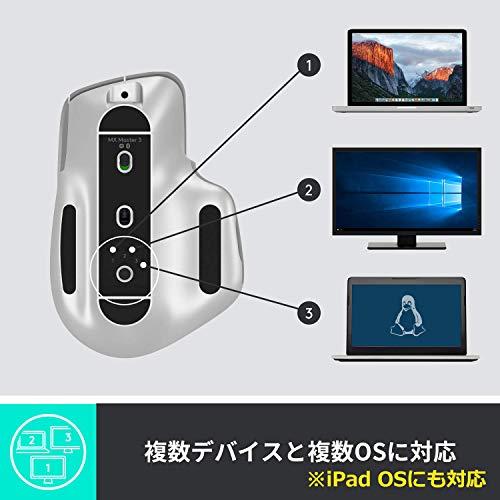 ロジクールアドバンスドワイヤレスマウスMXMaster3MX2200sGRUnifyingBluetooth高速スクロールホイール充電式FLOW7ボタンwindowsMaciPadOS対応無線マウスMX2200グラファイト国内正規品2年間無償保証