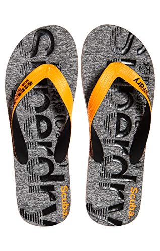 Superdry Herren Scuba Grit Flip Flop Zehentrenner, Mehrfarbig (Fluro Orange/Black/Grey X2a), 40-41 EU