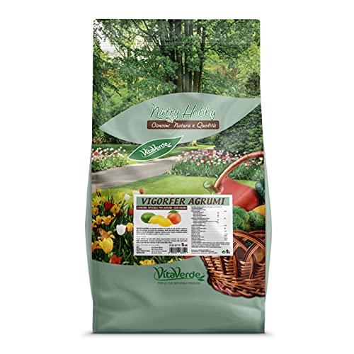 VIGORFER AGRUMI, concime granulare per agrumi con guano, kg 5, Vitaverde
