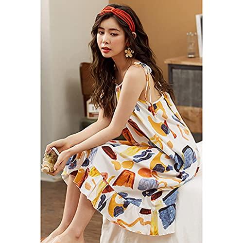Camisón Sexy Pijamas Camisas De Dormir De Algodón Suave para Mujeres, Ropa Interior Bonita De Dibujos Animados para Mujer, Pijama De Gran Tamaño, Pijama, Camisón Informal Sexi para
