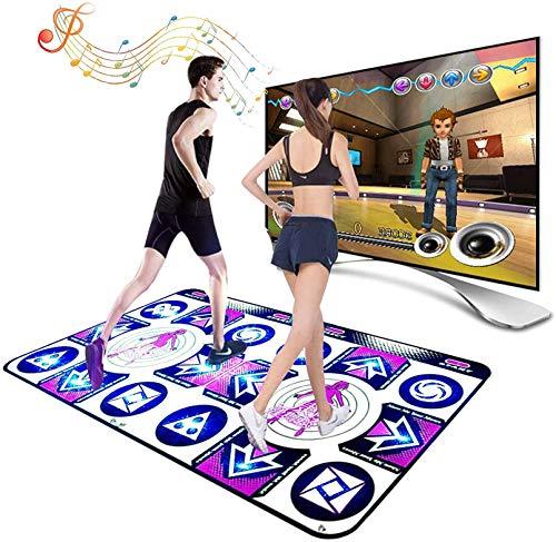 ダブルダンスマット、TVコンピューターデュアルワイヤレス目的リモコン体性感覚ゲームダンスブランケット滑り止めフィットネスダンスマット,Style 1,Non luminous