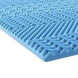 INNOCENT® Gel-Schaum 7-Zonen Topper (ohne Überzug) 180 x 200 cm| Viskoelastische Matratzenauflagen...