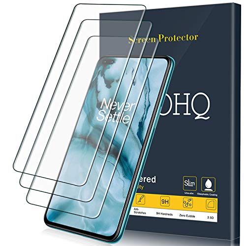 QHOHQ Protector de Pantalla para OnePlus Nord 5G, [3 Unidades], Cristal Templado...