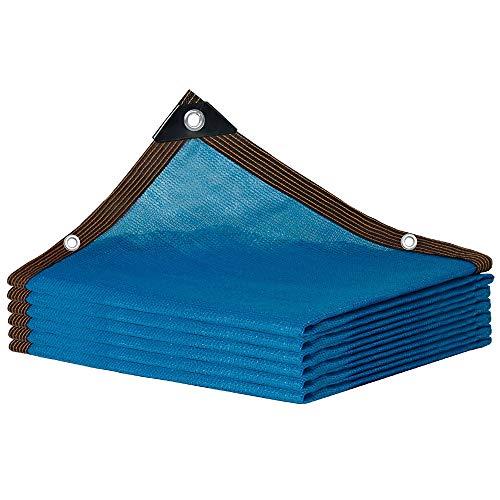 bdb 85% De Sombreado Vela De Sombra Material De Polietileno De Alta Densidad Dobladillo Cosido Toldo De Tela Jardín Al Aire Libre Patio Fiesta Patio Trasero Camping (Color : Azul, tamaño : 3x7m)