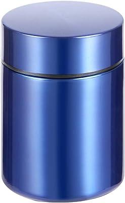スープジャー保温 弁当箱ステンレスランチジャー 真空断熱 フードポット ミニランチジャー160ML (青い)