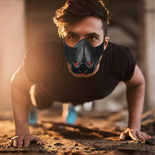 FRIORANGE Sport Workout Training Mask Hypoxic Mask Running Mask Fitness mask Achieve High Altitude Elevation Effects with 3 Level Air Flow Regulator