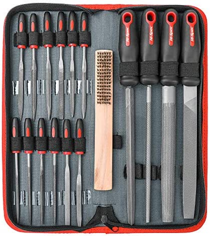 Perfect for Wood Flat//Triangle//Half-Round//Round Large Files /& 12x Needle Files/&Cleaning Brush 18Pcs Professional Files Tools Set- SIMNIAM Premium T12 Metal Files with Suitcase Metal/&DIY Project