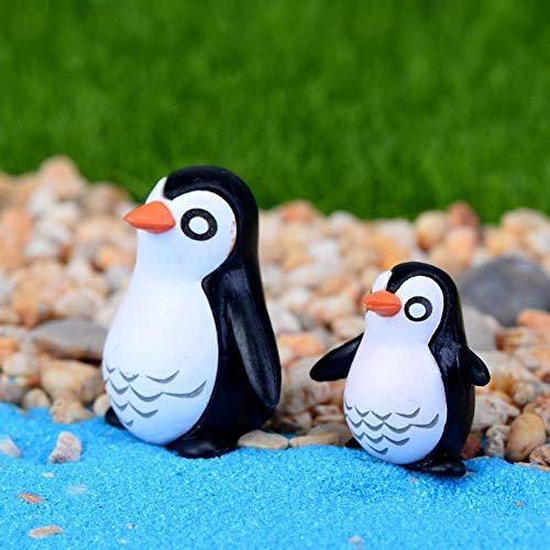 jiangyanyiliao 10 piezas de resina pingüino micro paisaje figuras terrario miniaturas casa de muñecas artesanía bonsai adorno miniatura