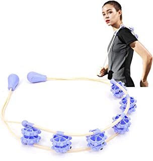 KIKIGOAL Hand Massager Roller Full Body Massage Rope Belt Neck Pull Back Massage for Stress Relief