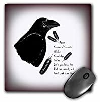 """3D Rose""""Meaning of Raven is A Picture I Drew with Native American Beliefs"""" Matte Finish Mouse Pad - 8 x 8"""" - mp_194500_1 [並行輸入品]"""