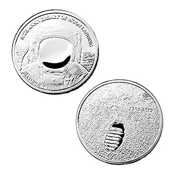 Apollo 11 Astronaut Challenge Coin National Aeronautics & Space Administration Commemorative Coins  Silver