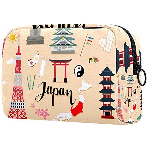 KAMEARI Trousse à maquillage de voyage pour le tourisme du Japon - Grand sac à maquillage multifonction