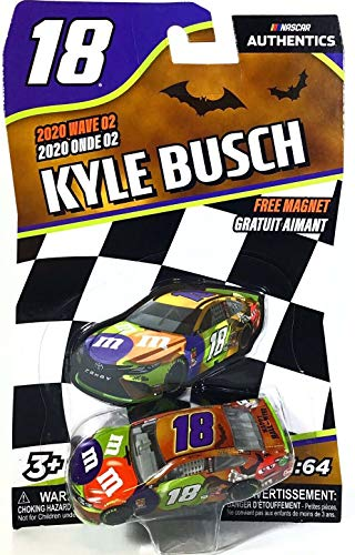 kingsdugout Kyle Busch #18 NASCAR Authentics 2020 Halloween M&Ms Wave 2 1/64 Die-Cast