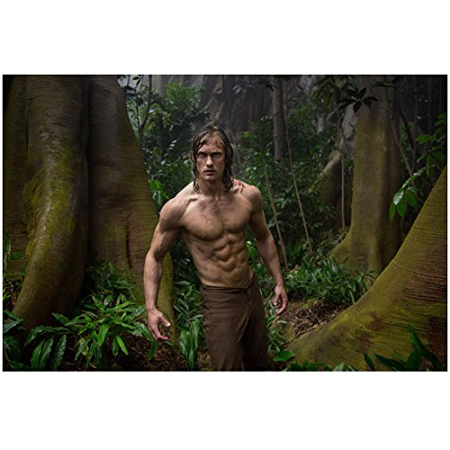 The Legend of Tarzan (2016) 8 inch by 10 inch PHOTOGRAPH Alexander Skarsgard & His Six Pack in Jungle kn