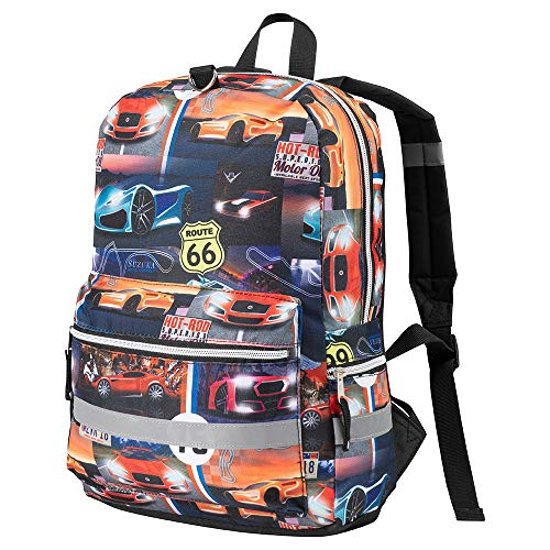Cabin Max Haul Boys Backpack for School | Ideal for use as a Travel Bag and School Bag | Brilliant Boys Backpack (Racing Car)